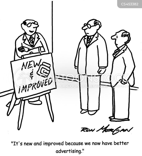 misleading advertising cartoon