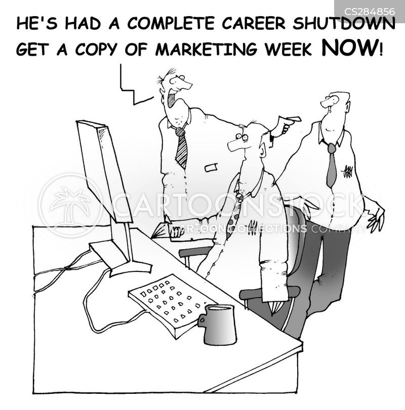 career shutdowns cartoon