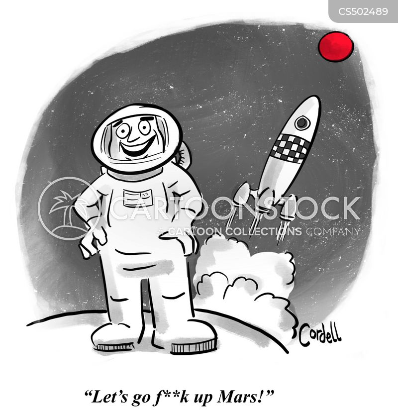 spacex cartoon