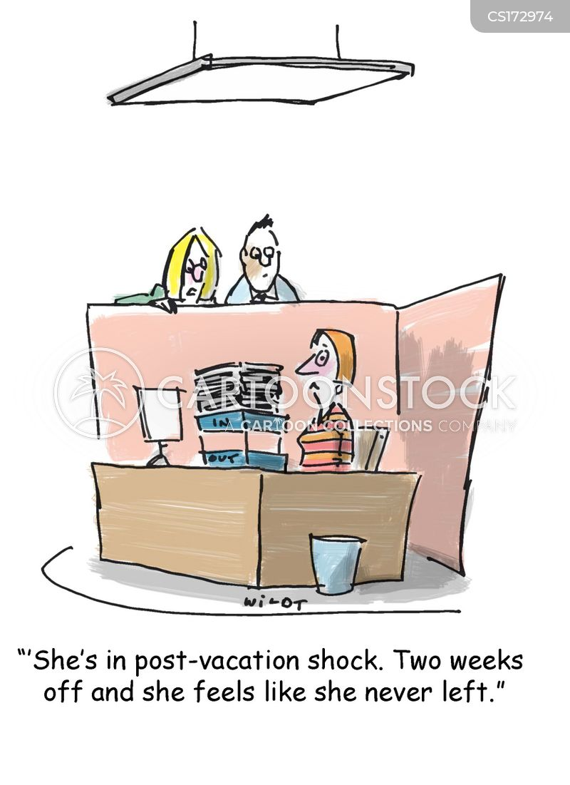 Post Vacation Cartoons And Comics Funny Pictures From Cartoonstock
