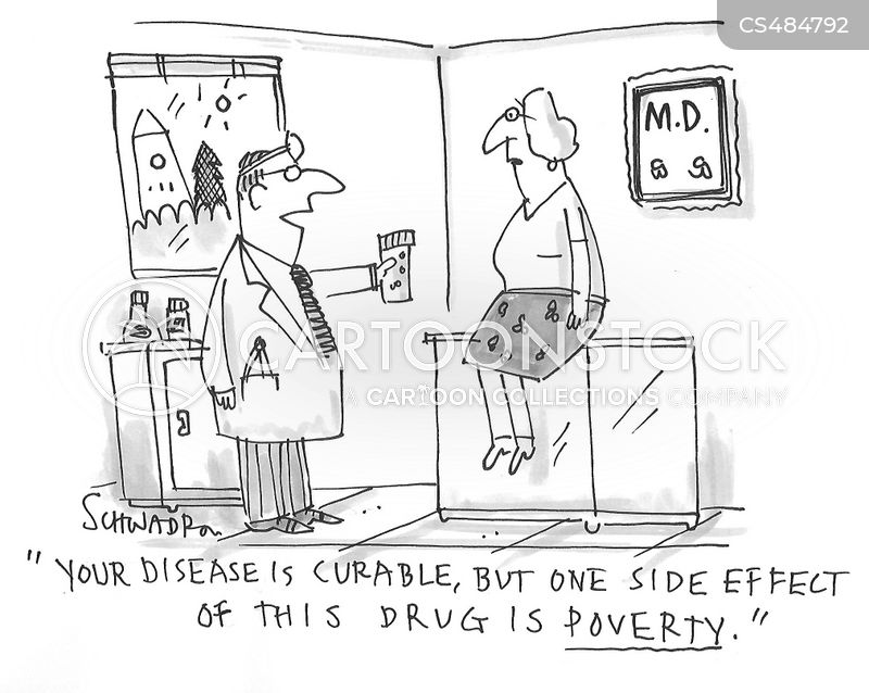 prescription costs cartoon