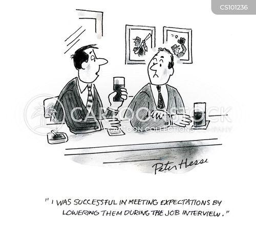 meeting expectations cartoon