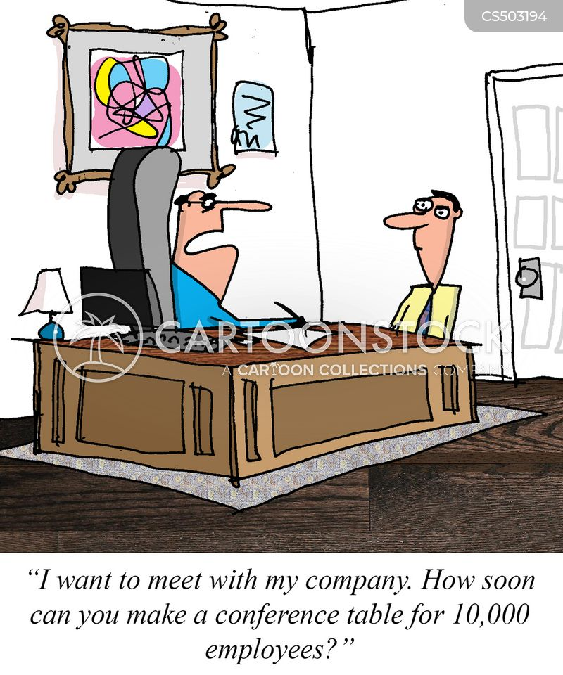 conference table cartoon