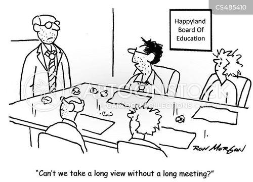 long meeting cartoon