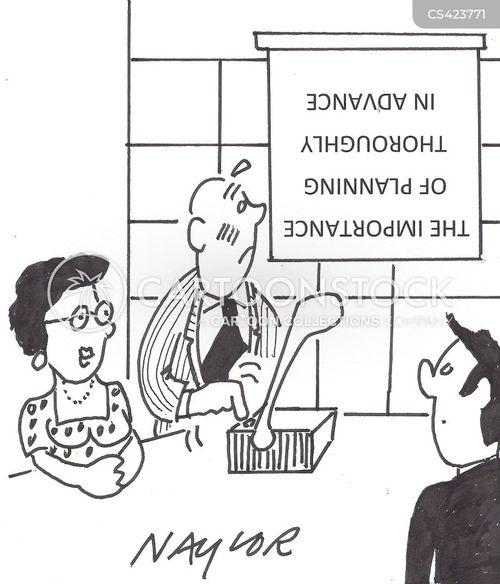 organisational skill cartoon