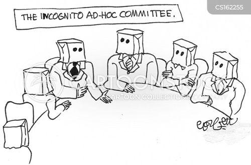 secret meeting cartoon