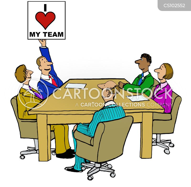 Team Spirit Cartoons and Comics - funny pictures from CartoonStock