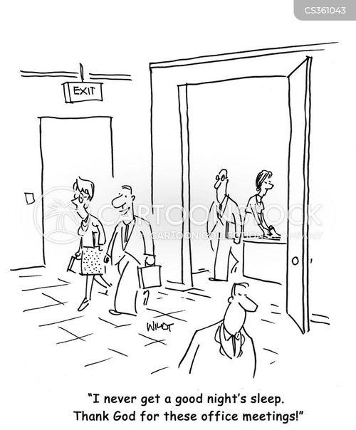boring meetings cartoon