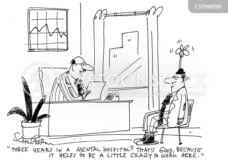 mental hospital cartoon