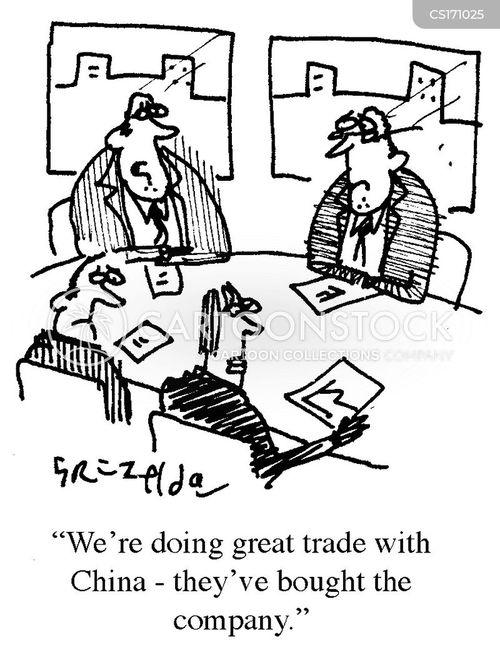 hostile takeovers cartoon
