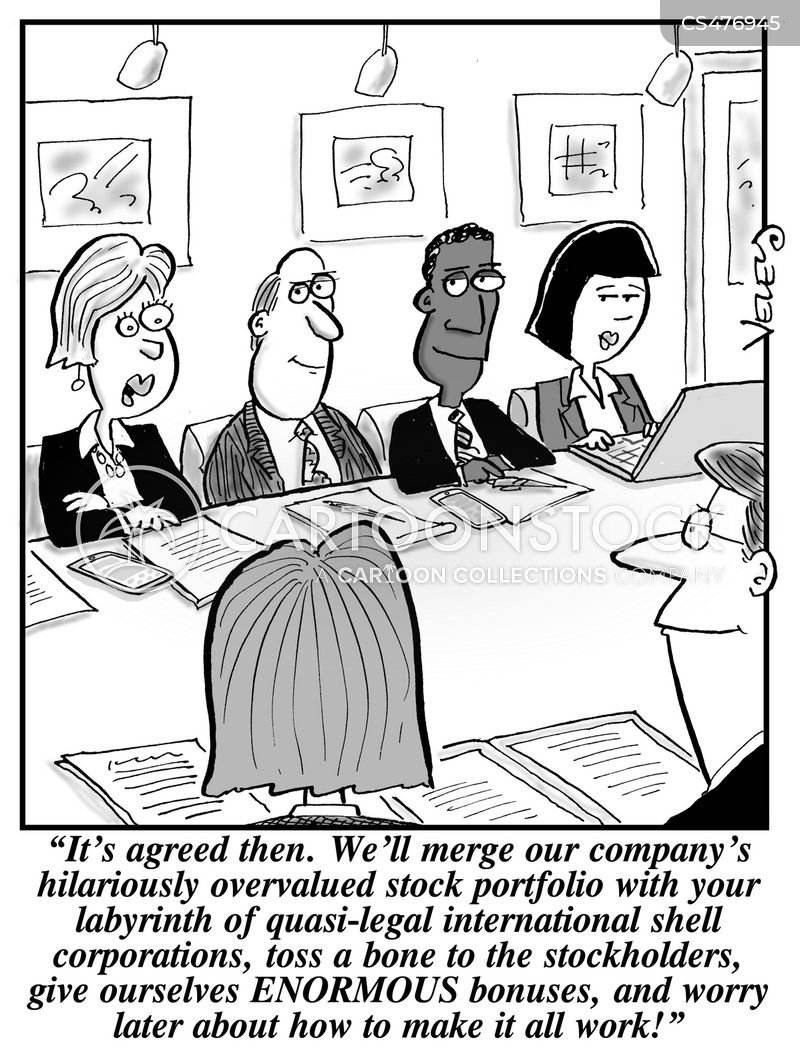 shell company cartoon