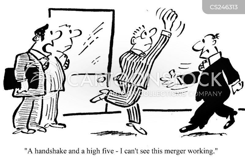 mergers and acquisitions cartoon