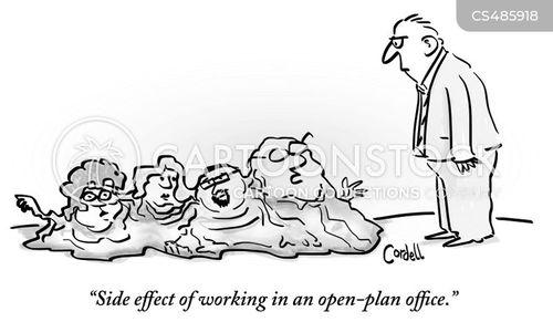 office layouts cartoon