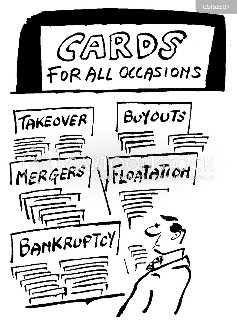 mergers and takeovers cartoon