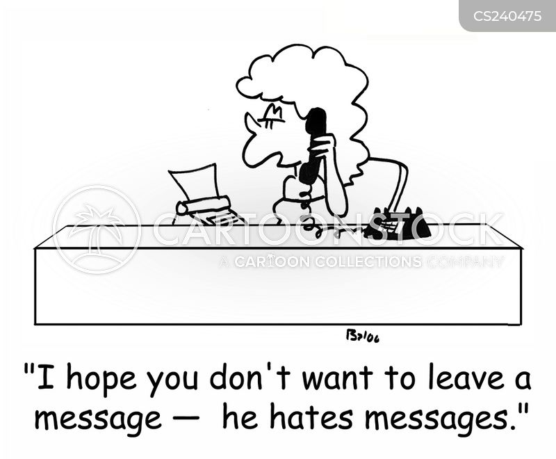 leaving a message cartoon