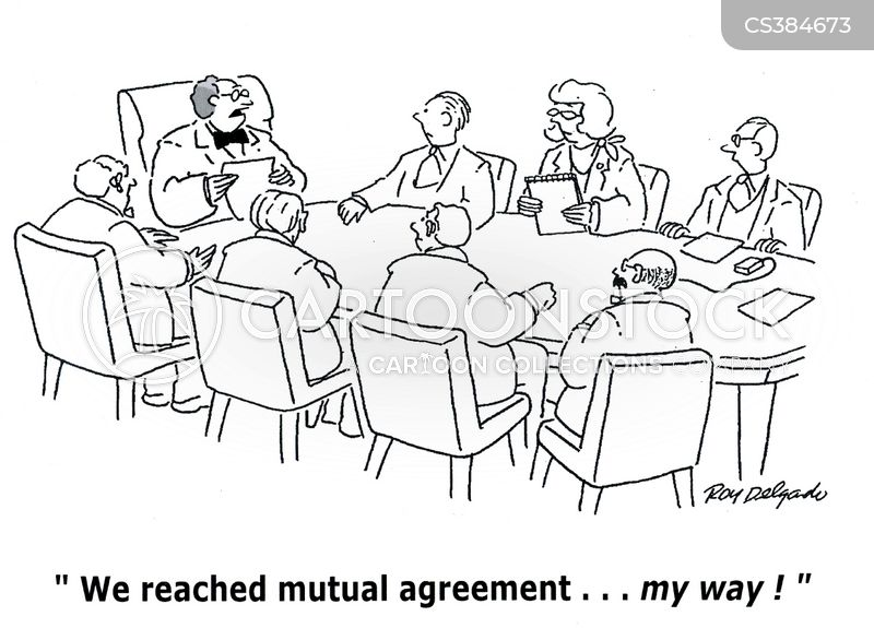 Mutual Cartoons and Comics funny pictures from CartoonStock – Mutual Business Agreement