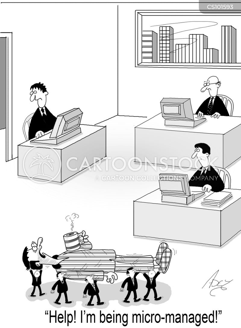 micro management cartoon