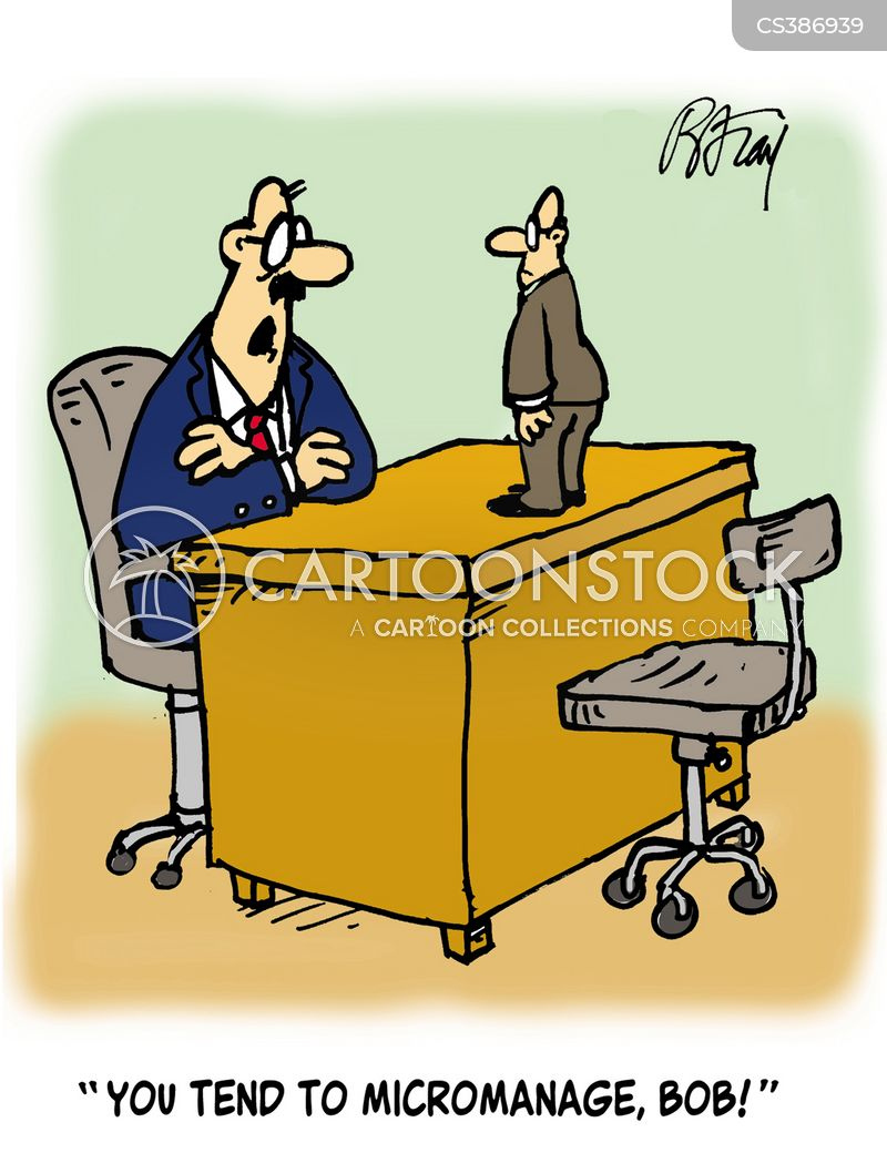 micromanagement cartoon