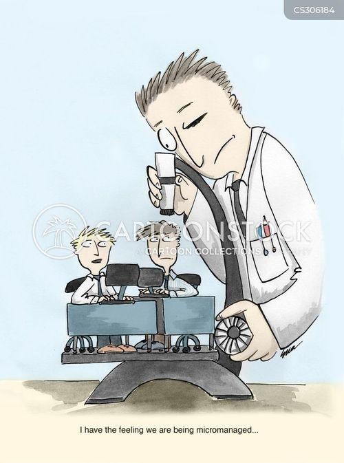 micromanaging cartoon