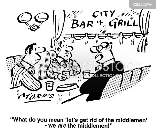 cut out the middlemen cartoon