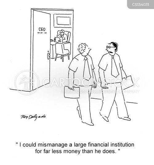 financial institutions cartoon