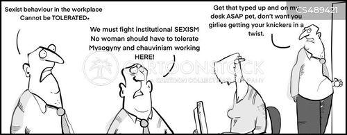 institutional sexism cartoon
