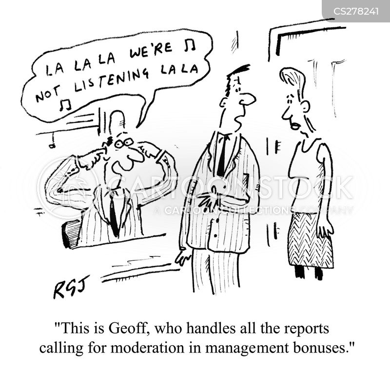annual bonus cartoon