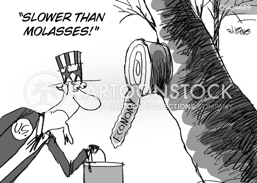 economic slowdown cartoon