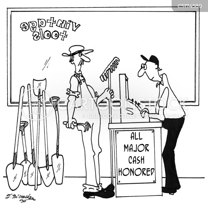 shop assistants cartoon