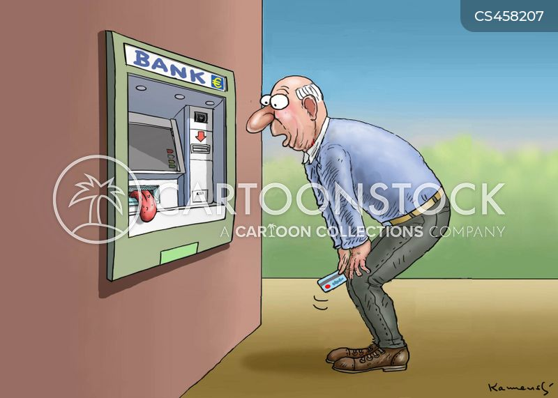bank machines cartoon