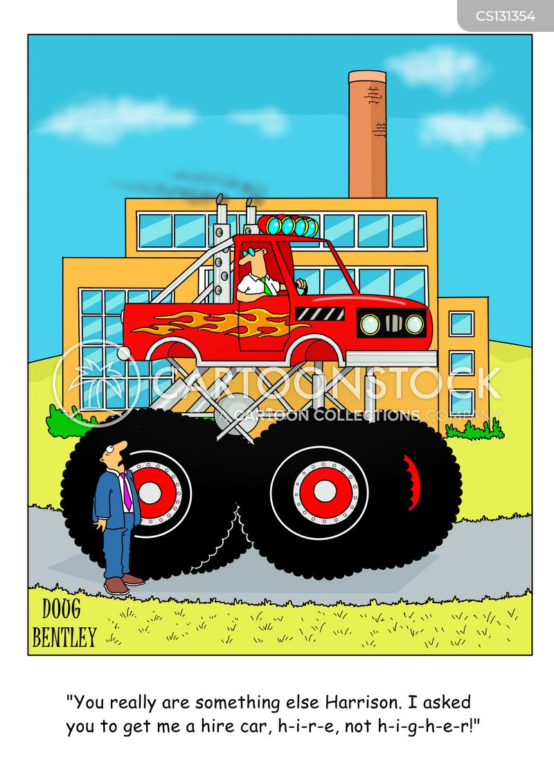 Monster Truck Cartoons And Comics Funny Pictures From Cartoonstock