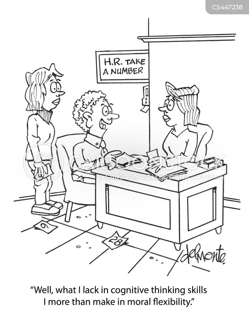 cognitive thinking skills cartoon