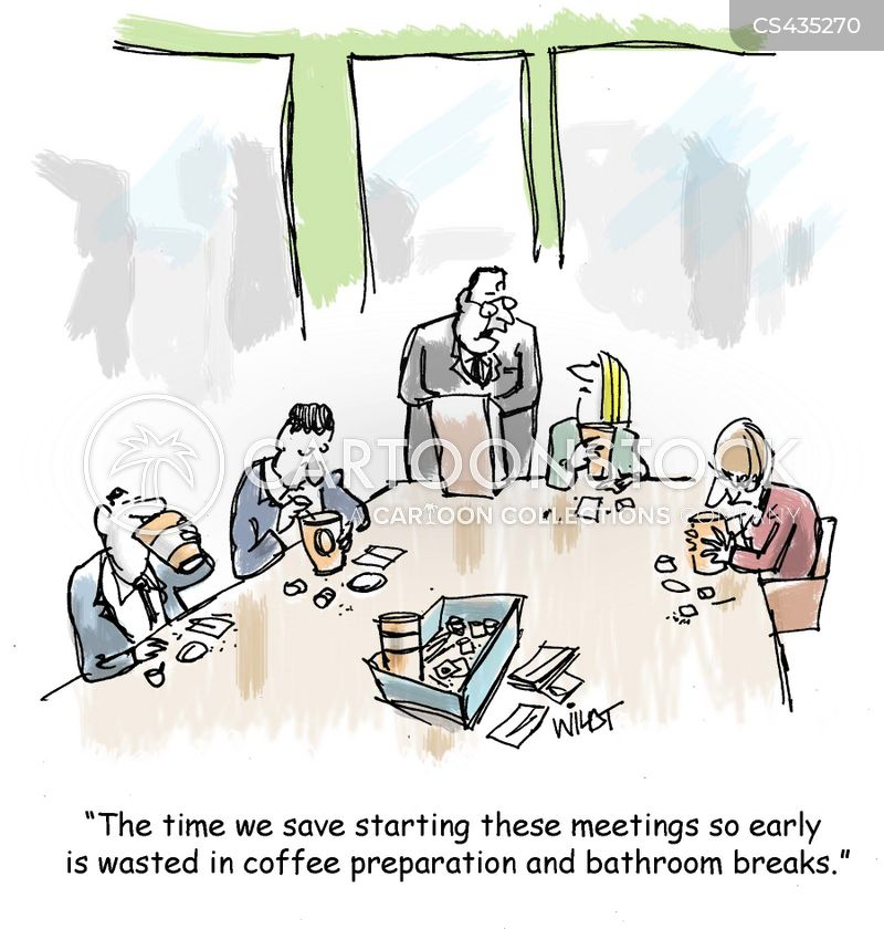 morning meeting cartoon