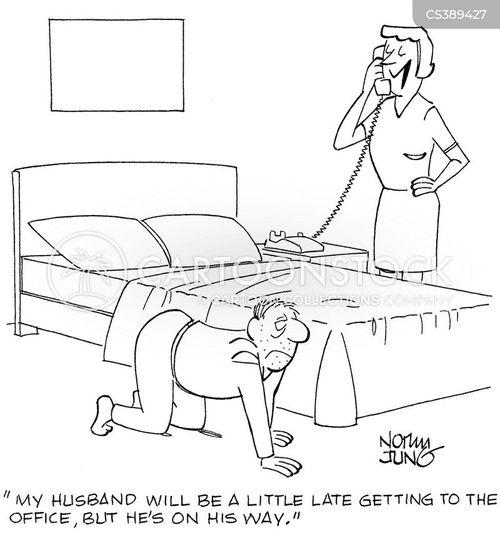 hang-over cartoon