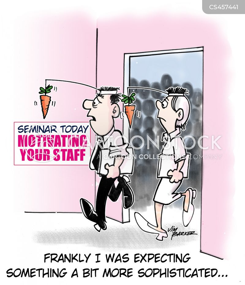 carrot and stick cartoon