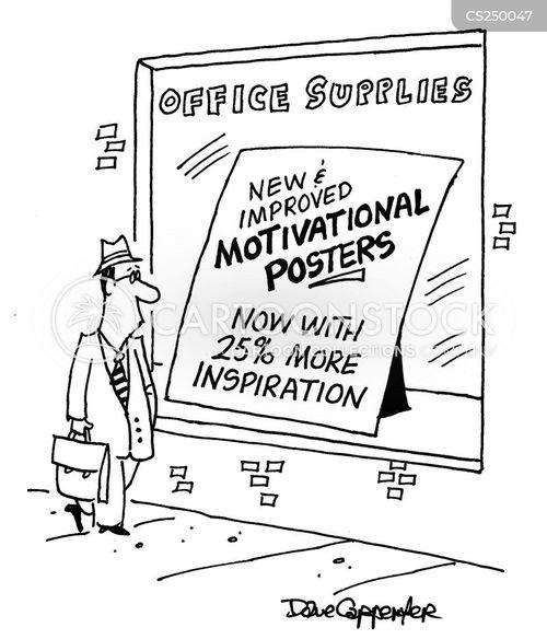 motivational poster cartoon