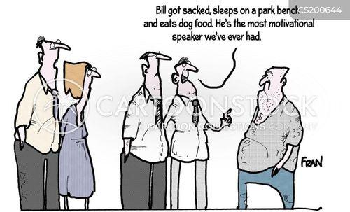 motivational speaker cartoon