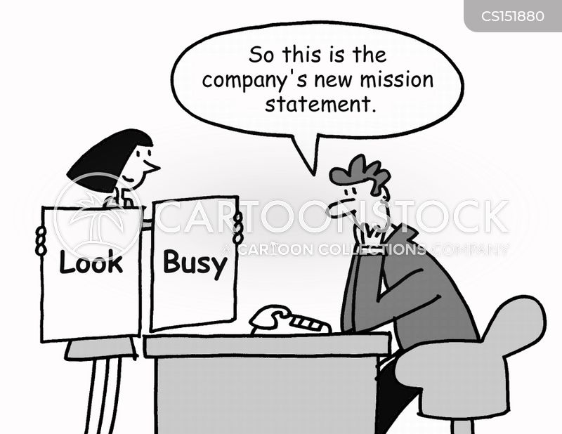 look busy cartoon