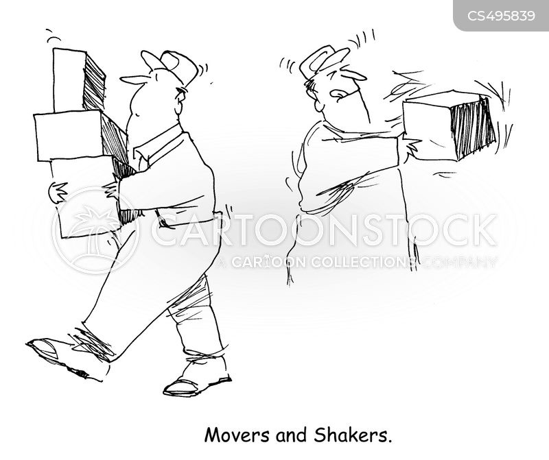 packing boxes cartoon