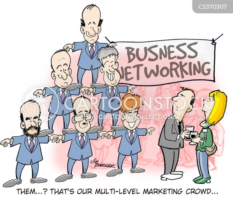 business networks cartoon