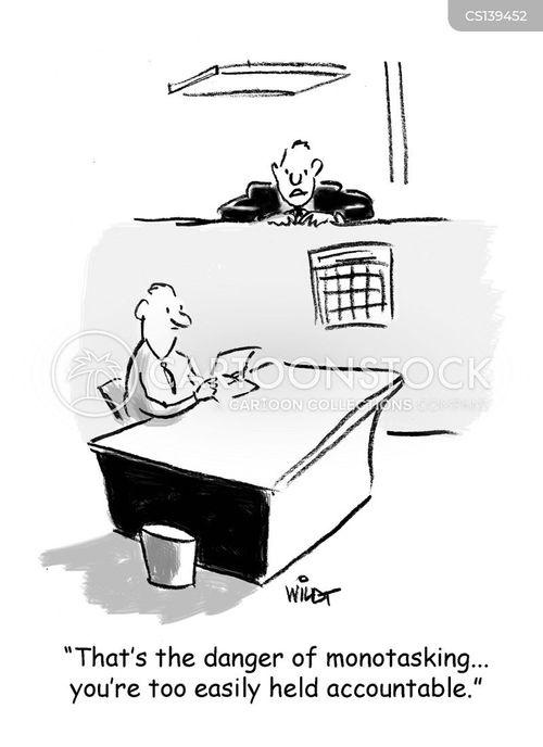 concentrating cartoon