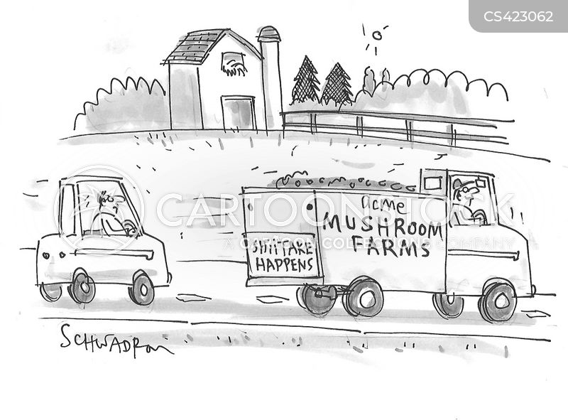 mushroom farms cartoon