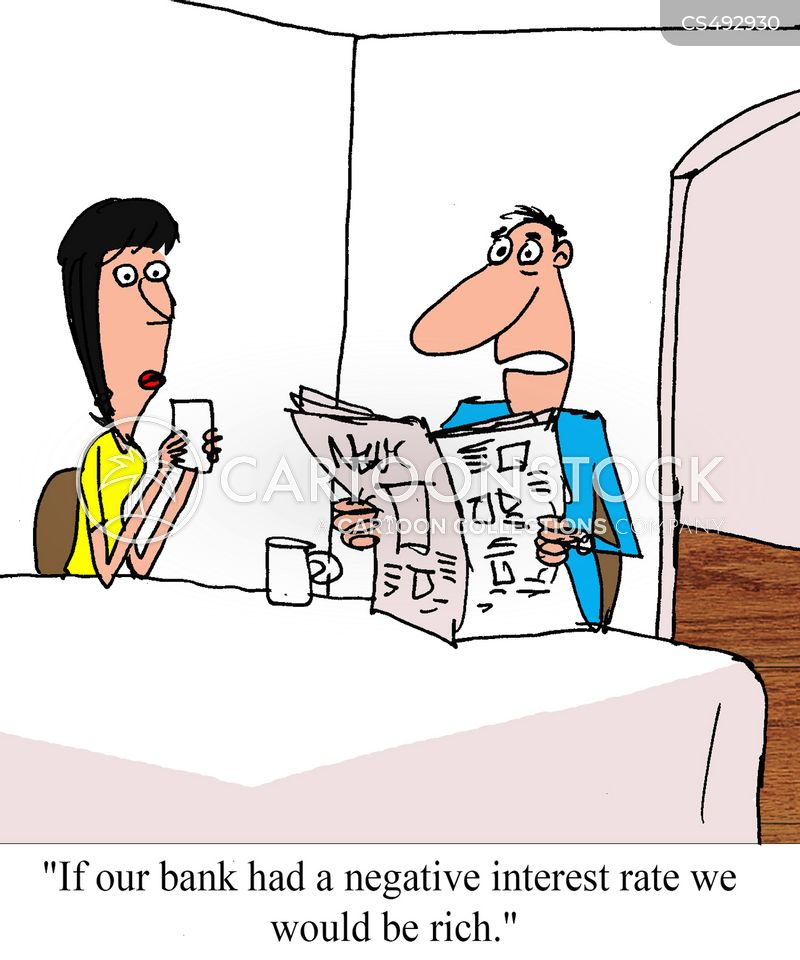 negative interest rate cartoon