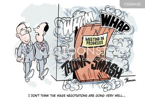 wage negotiation cartoon