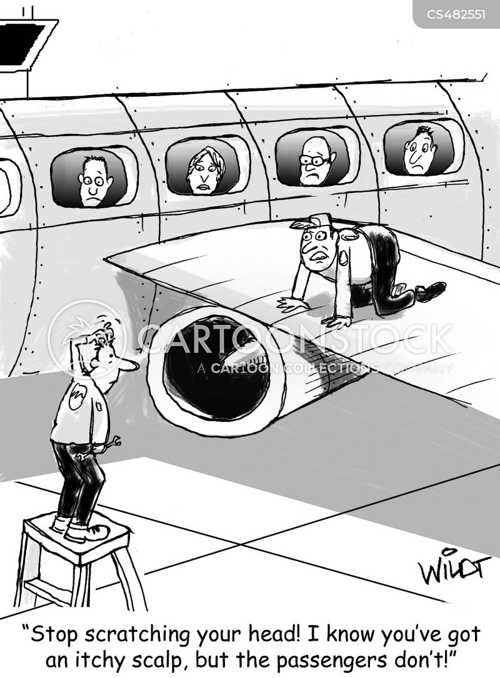 flying phobia cartoon