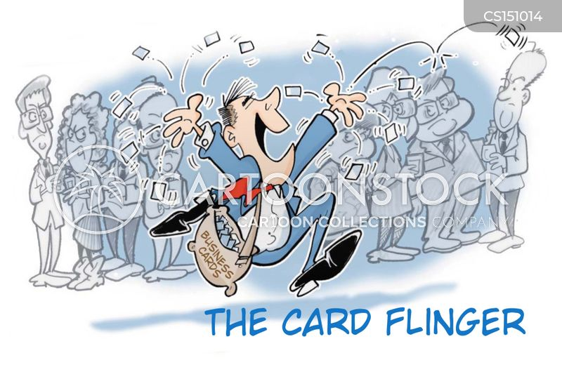 business card cartoon