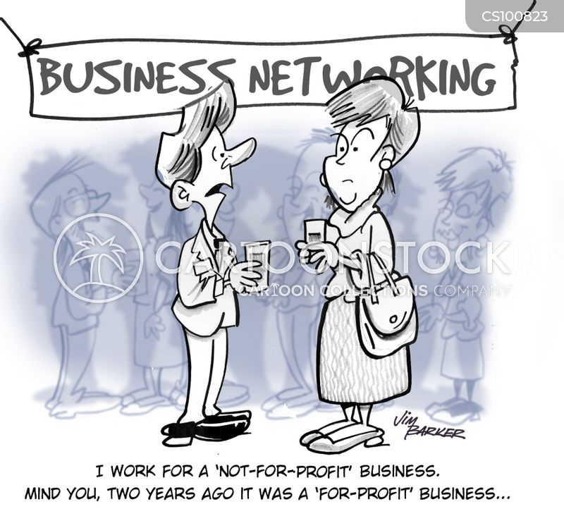breakfast networking cartoon