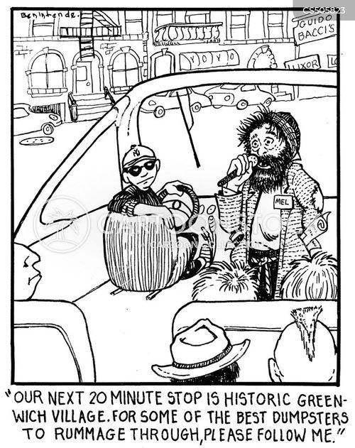 dumpster divers cartoon