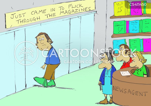 window shopper cartoon