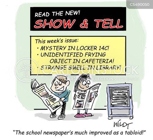 show & tell cartoon